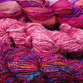 ~*~  Recycled Silk Ribbon from India 3x approx 100g Skein  1 x Silk 2Banana~*~