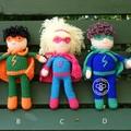 Crocheted superhero doll