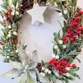Green Christmas Wreath - Traditional Christmas Decor - Family Christmas Gift