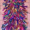 Recycled silk deep rainbow  Rug mat