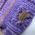 Mens or ladies purple alpaca slouchy  beanie
