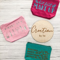 Canvas makeup bags