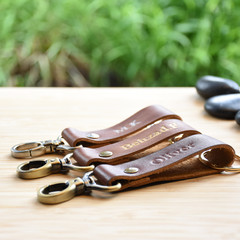 gift for him/Christmas gift/Personalized  Key ring / Leather gift /Handmade Gift