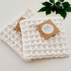 Handmade Reusable Eco Biodegradable Cotton Dishcloth/Pot Holder/Body Washer