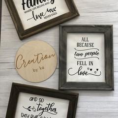 Reverse canvas frames