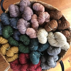 Donegal Fleck 8ply hand dyed merino yarn