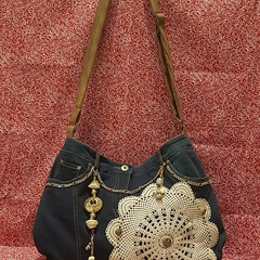 Blue Gold Mandela Handbag