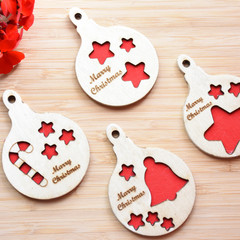 personalized Christmas decoration /Christmas ornament/Christmas Bauble/ set of 4