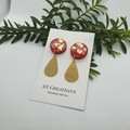 Red & gold teardrops