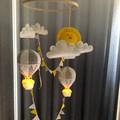 Deluxe Nightlight Air Balloon Mobile - Neutral