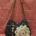 Blue Gold Mandela Handbag