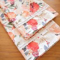 2x Matching Cotton Pillow Cases - Red Floral