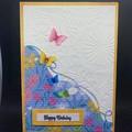 Birthday card /Butterfly card / Friend Card / Mother Birthday Card