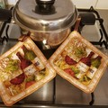 "Set of 2 ""Wine Pot Holders""."