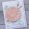 Handmade All Occasions Card - Subtle Sunflower
