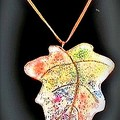 Autumn Leaf Made With Non Toxic Polymer Clay.