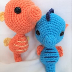 Seahorse toy, softie, amigurumi in colour of your choice