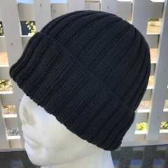Handmade Cotton Merino Knitted Beanie