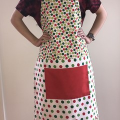 Christmas apron, adjustable OSFA extra long!