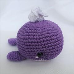 Whale toy, softie, amigurumi