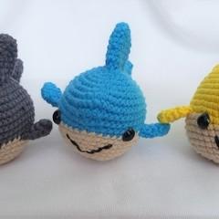 Shark toy, softie, amigurumi, in colour of your choice
