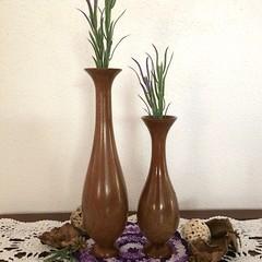 Two Elegant Melaleuca Turned Weed Pots (PB 26 &27)