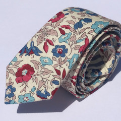 Men's floral necktie in Liberty_Australian made_skinny_classic_slim_wedding_gift
