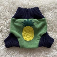Medium Pineapple Wool Nappy Cover
