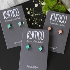 Teeny Tiny earrings - resin diamonds