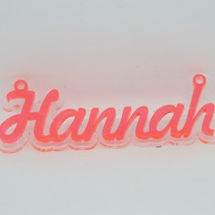 Acrylic name pendant - 60mm