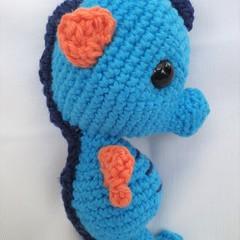 Seahorse toy, softie, amigurumi