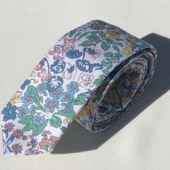 Men's women's floral necktie in Liberty_Australian made_skinny_classic_slim_wedd