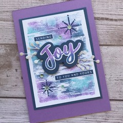 Handmade Christmas Card - Purple Joy