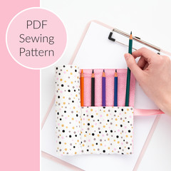 Pencil Roll / Pencil Case PDF Sewing Pattern
