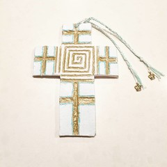 Wall Art - Greek Key Cross