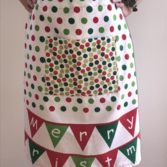 Christmas apron, waist length OSFA