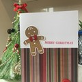 Christmas Handmade Card - gingerbread man