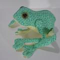 Australian Green Tree Frog Fabric Wire Soft Sculpture