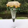 Long beaded Wine Glass Covers