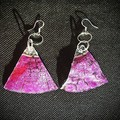 Up-cycled CD Earrings.