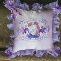 """Unicorn Bows"" Cushion"
