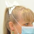 Silver Sparkle Bow Ear Saver for Ear Loop Face Masks