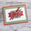 Handmade Christmas Card - Joy