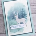 Deluxe Handmade Christmas Card - Peace on Earth Deer