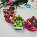 Gingerbread House - Christmas - Necklace Buttons Polymer - Jewellery - Earrings
