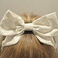 Silver Christmas Sparkle Bow Ear Saver for Ear Loop Face Masks