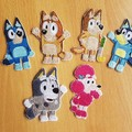 """Bluey""  family and friends iron-on Badge"