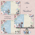 Alice in Wonderland Journal Page Printables