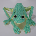 Australian Green Tree Frog Fabric Wire Soft Sculpture
