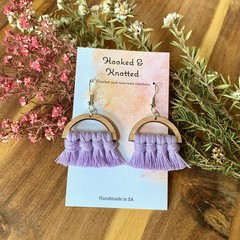Mini dangle macrame earrings